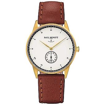 Paul Hewitt unisexe Signature cuir marron bracelet montre de PH-M1-G-H - 1M