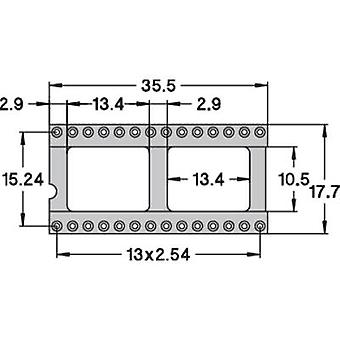 Espaçamento de contato de soquete preci Dip 110-83-628-41-001101 IC: 15,24 mm número de pinos: 28 precisão contactos 1 computador (es)