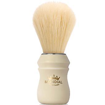 Mondial 1908 zwijnen Shaving Brush Faux ivoor