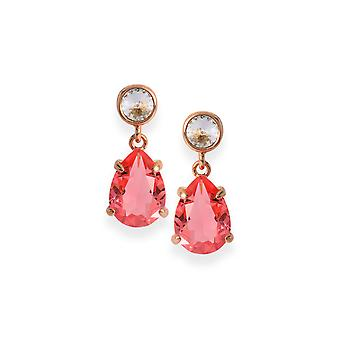 Pink earrings with crystals from Swarovski 4610