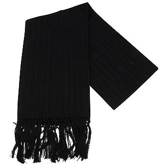 Knightsbridge Neckwear Knitted Wool Scarf - Black