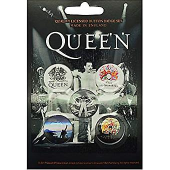 Queen/ Freddie Mercury 5 Pin Badges In Pack