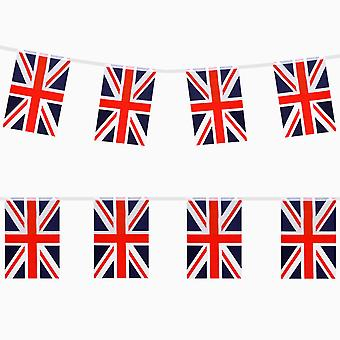 TRIXES 9M Union Jack Red White and Blue British Rectangular bunting for National Celebrations
