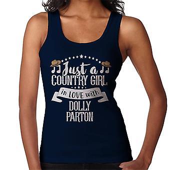 Len krajina dievča v láske s Dolly Parton ženy ' s vesta
