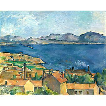 Die Bucht von Marseille, gesehen von Estaque, Paul Cezanne, 50x40cm