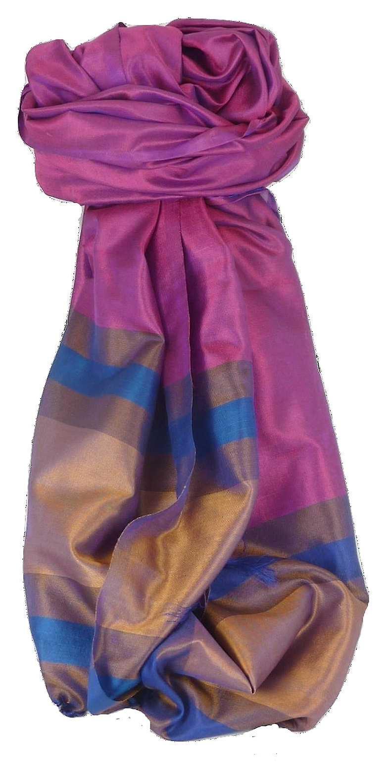 Varanasi Border Prime Silk Long Scarf Heritage Chaudry 801 by Pashmina & Silk