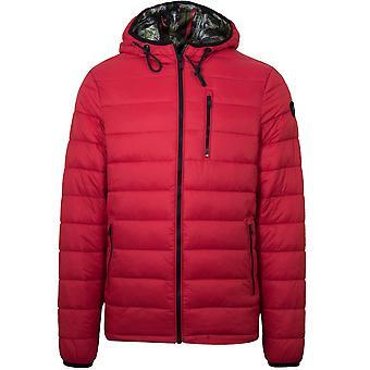 Moose Knuckles Red Ivvavik Lightweight Puffer Jacket