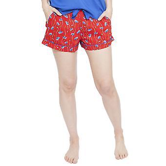 Cyberjammies 4131 Frauen Mia Red Floral Print Pyjama kurz