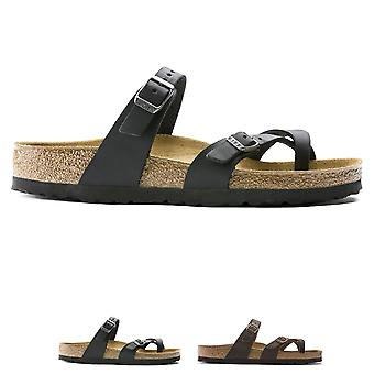 Womens Birkenstock Mayari huilé en cuir d'été à lanières mode sandales