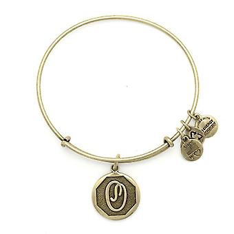 Alex and Ani Initial O Gold Bangle A13EB14OG