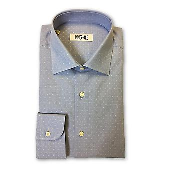 Ingram shirt in blue dot pattern