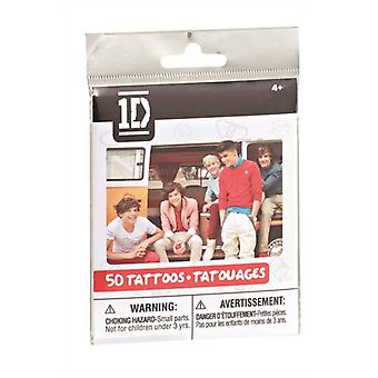 One Direction 1d 50 Tattoos Black Pack