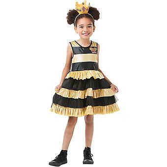 Traje da criança da abelha da rainha-LOL