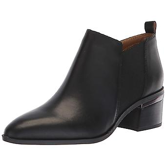Franco Sarto Womens Arden Leather Almond Toe Ankle Cowboy Boots