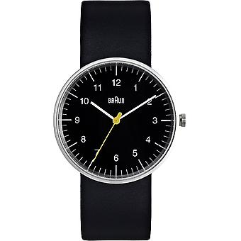 Braun classic gent Japanese Quartz Analog Man Watch with BN0021BKBKG Synthetic Leather Bracelet