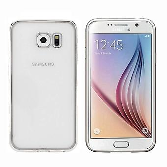 Samsung S7 Edge Case Silver - Bumper Backcover Clear