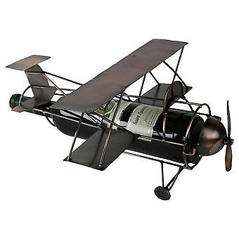Weinflasche Halter Flugzeug Doppeldecker