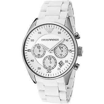 Emporio Armani Chronograph Silicone White Men's Watch Ar5867