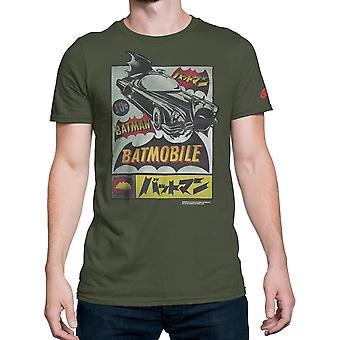 Batman Kanji Batmobile Publicité Hommes-apos;s T-Shirt
