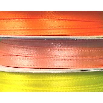 3 Pack 3mm Wide Yellow & Orange Satin Co-Ordinating Ribbon Set for Crafts