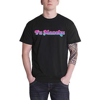 Fu Manchu T Shirt Mudflap Girl Band Logo new Official Mens Black
