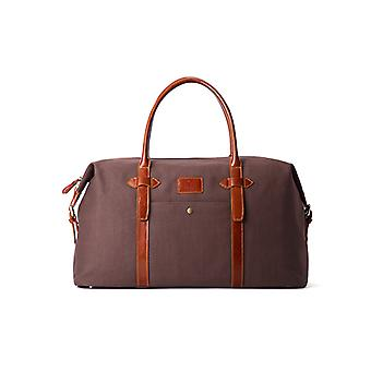 Woodland Leather Canvass And Tan Leather Mix Holdall 19.0