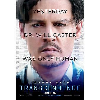 Transcendence Original Movie Poster - Style B (Johnny Depp) Double Sided Advance