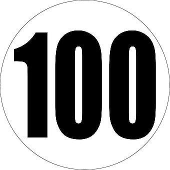 Klistermærke mærkat mærkat bil lastbil grænse grænse hastighedsgrænse 100 km/h panel