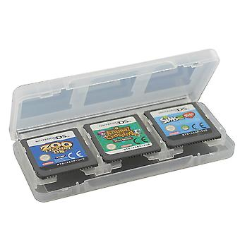 Game case for nintendo 3ds 2ds ds 6 in 1 card holder storage box - white