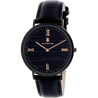 Montre Black Oak BX9200B-903 - Montre Cuir Noir Femme