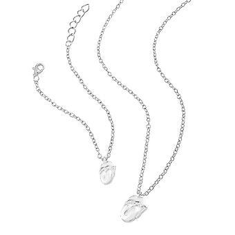 De rullande stenarna silver halsband och armband set