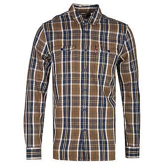 Levis Jackson Brown überprüft regular Fit Worker Shirt