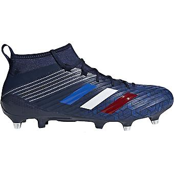 adidas Performance Mens Predator Flare Soft Ground Training Rugby Boots - Navy
