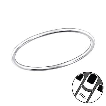 0.8Mm Band - 925 Sterling Silver Midi Rings - W32483X