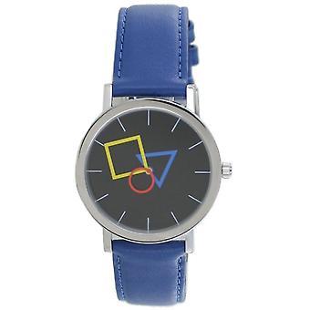 Aristo Bauhaus Unisex Watch Stainless Steel 4D86IB Leather Blue