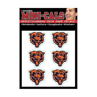 Wincraft 6 Ers Face Sticker 3cm - NFL Chicago Bears