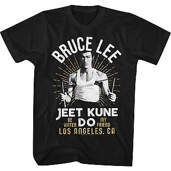 American Classics Bruce Lee White Gold T-Shirt - Schwarz