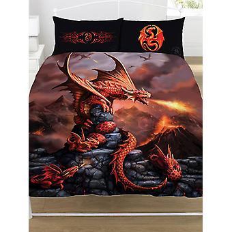 Anne Stokes Fire Dragon Duvet Cover and Pillowcase Set