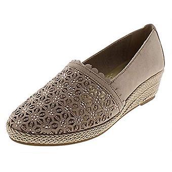 Karen Scott Womens Tashaa Faux Suede Embellished Wedge Heels