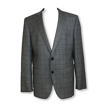 HUGO BOSS enorme slim fit wol 3 stuk pak in grijs Windowpane