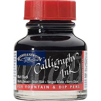 Winsor & Newton Calligraphy Dip Pen Ink 30ml (Matt Black)