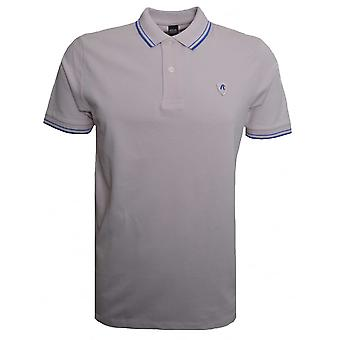 Replay Herren kurzarm blass rosa Polo-Shirt