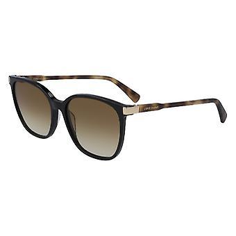 Longchamp LO612S 010 Black-Havana/Brown Gradient Sunglasses