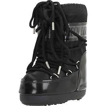 Maan boot laarzen blik kleur zwart