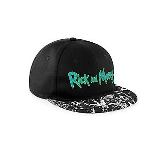 Rick And Morty Unisex Adults Logo Mineral Wash Snapback Cap