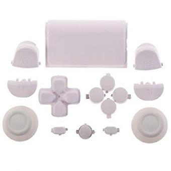 Full button set for ps4 sony controller mod kit 1st gen triggers, thumbsticks, d-pad replacement - white | zedlabz