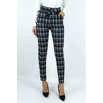 Pantalon à carreaux coupe cintré