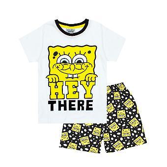 Spongebob Squarepants Boy-apos;s Short Cotton Pyjamas Combo