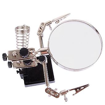BEST Magnifying glass 5X set for the electronics fixer with clamps