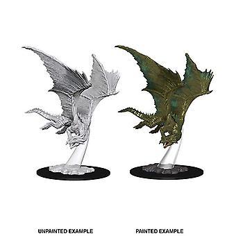 Young Bronze Dragon: D&D Nolzur's Marvelous Unpainted Miniatures (W9)